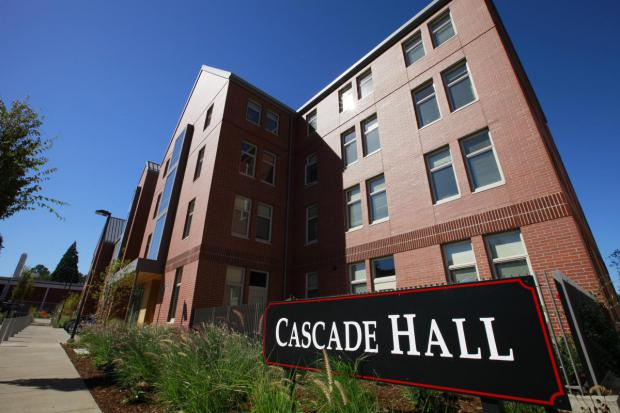 Exterior of Cascade Hall