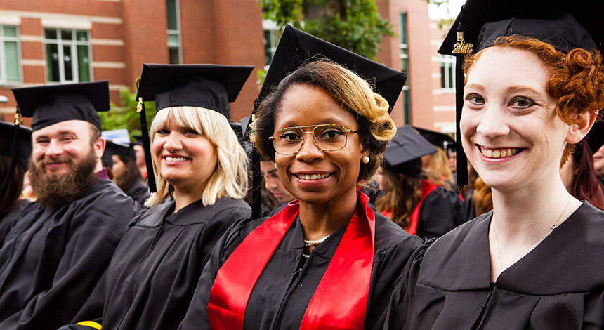 Graduates at August Commencement 2018