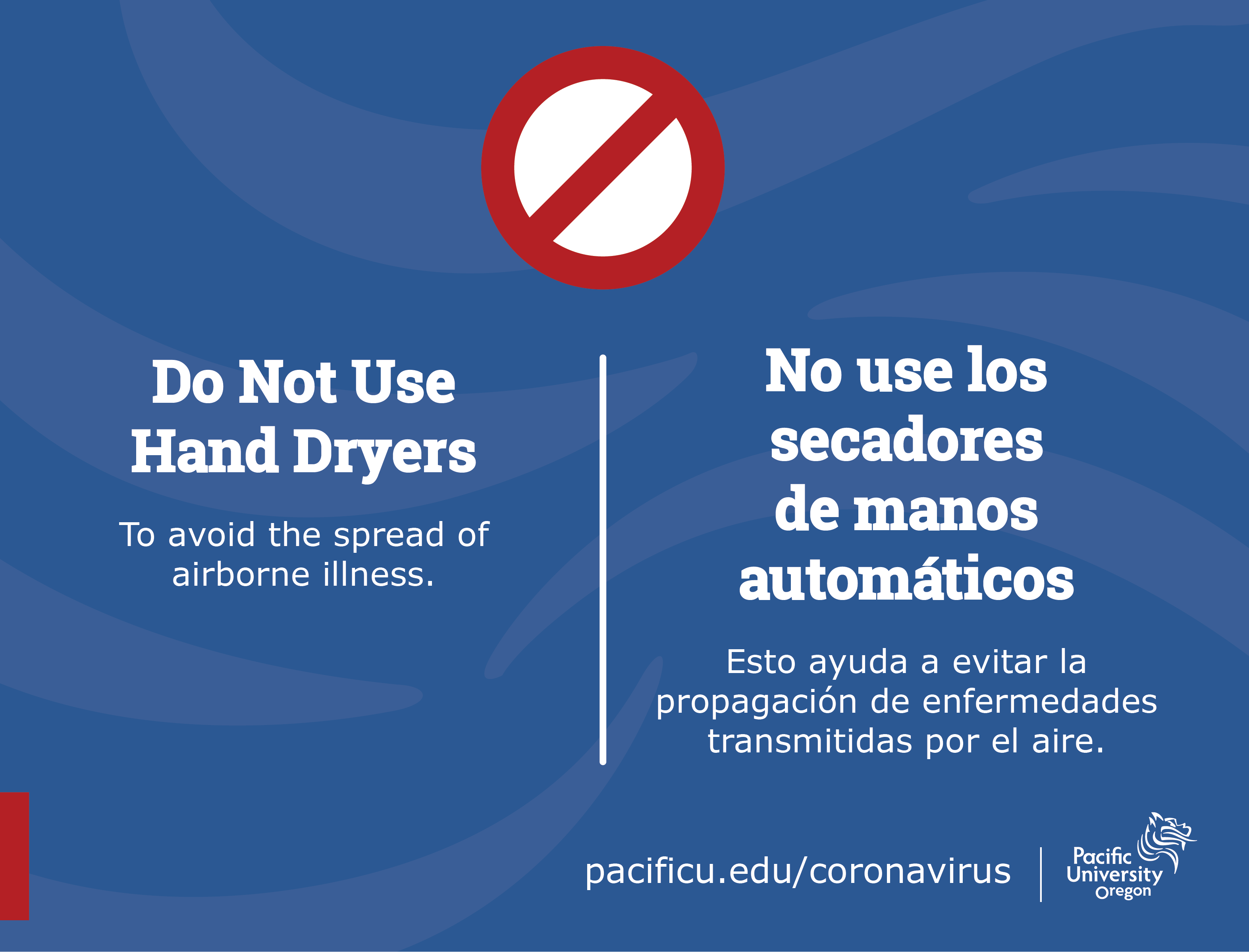 Do Not Use Hand Dryers