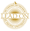 Lead On Campaign logo in gold