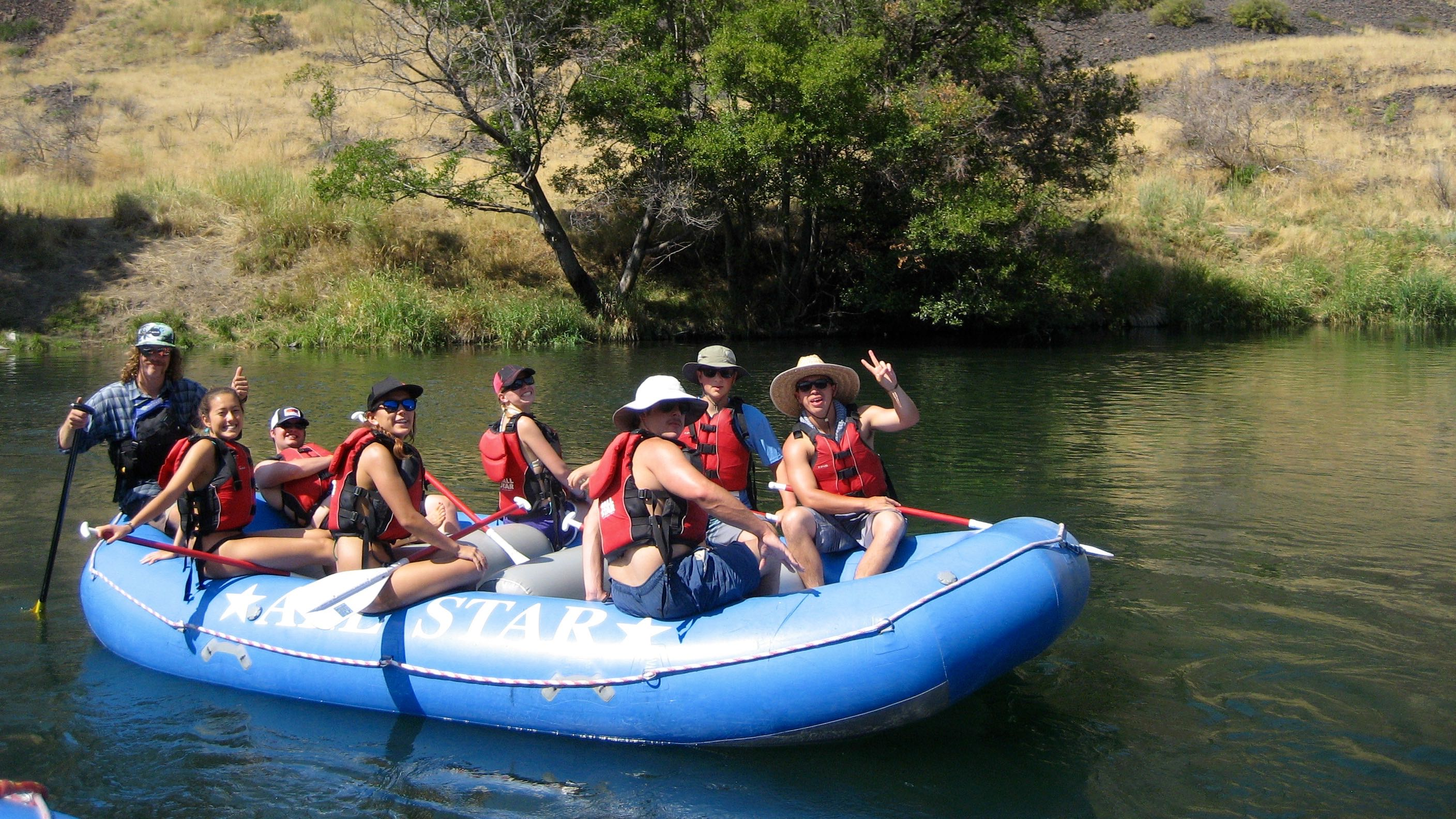 Rafting on the Deschutes, OR