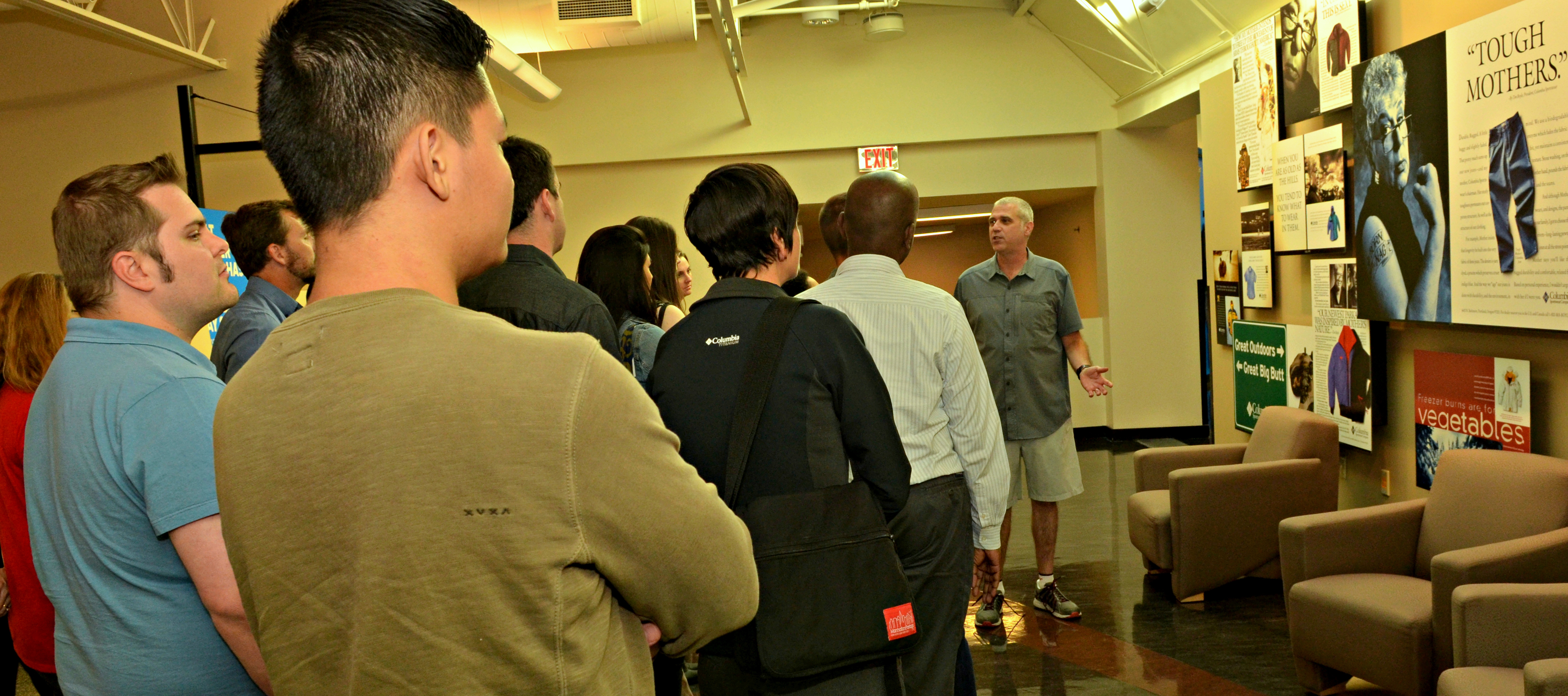 College of Business students visit Columbia Sportswear