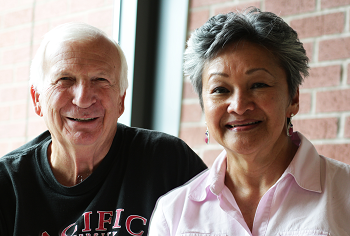 Pacific alumni Clark '65, '70 and Rae Peters '65