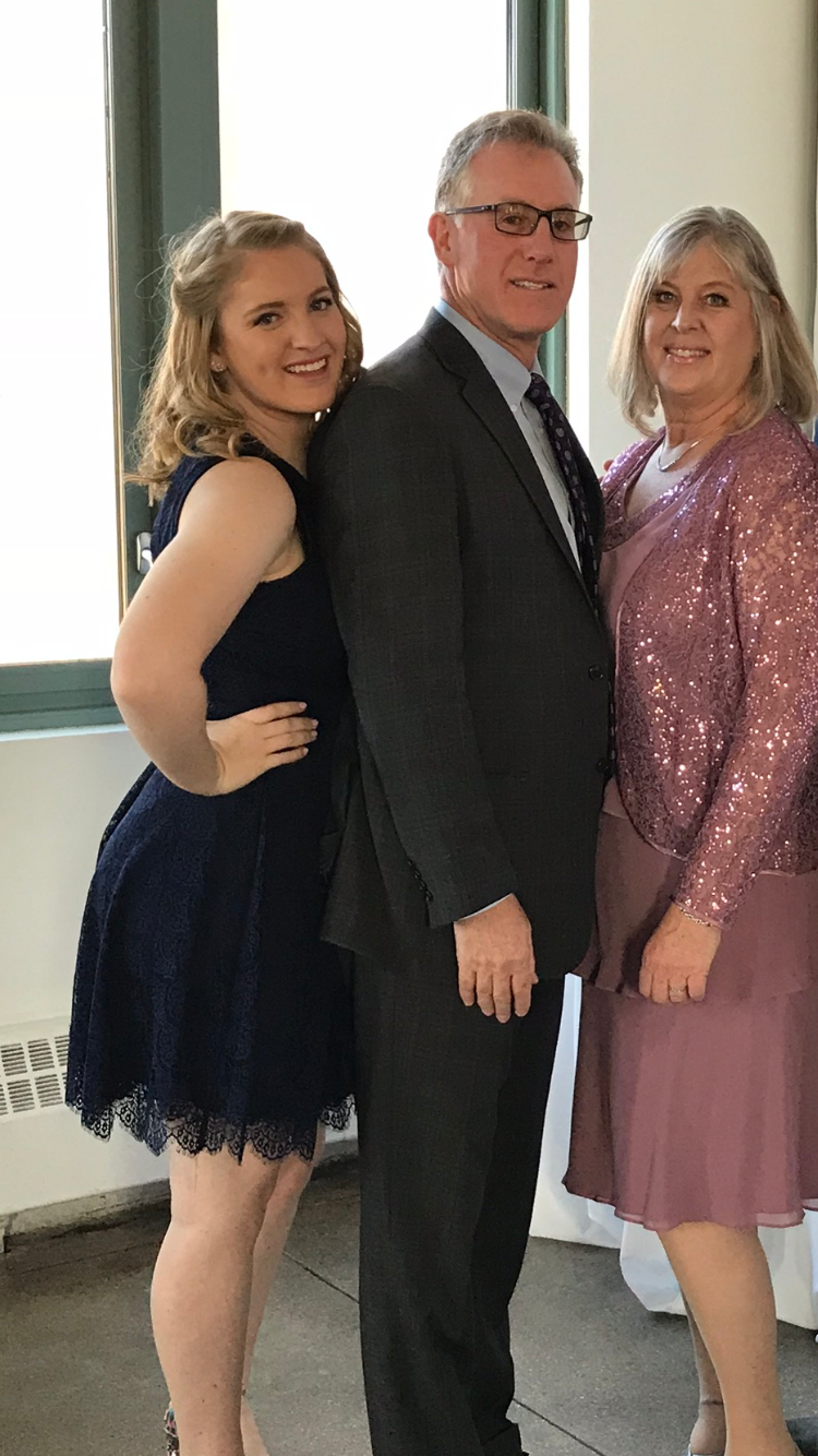Lauren, Jeff and Karen Goss