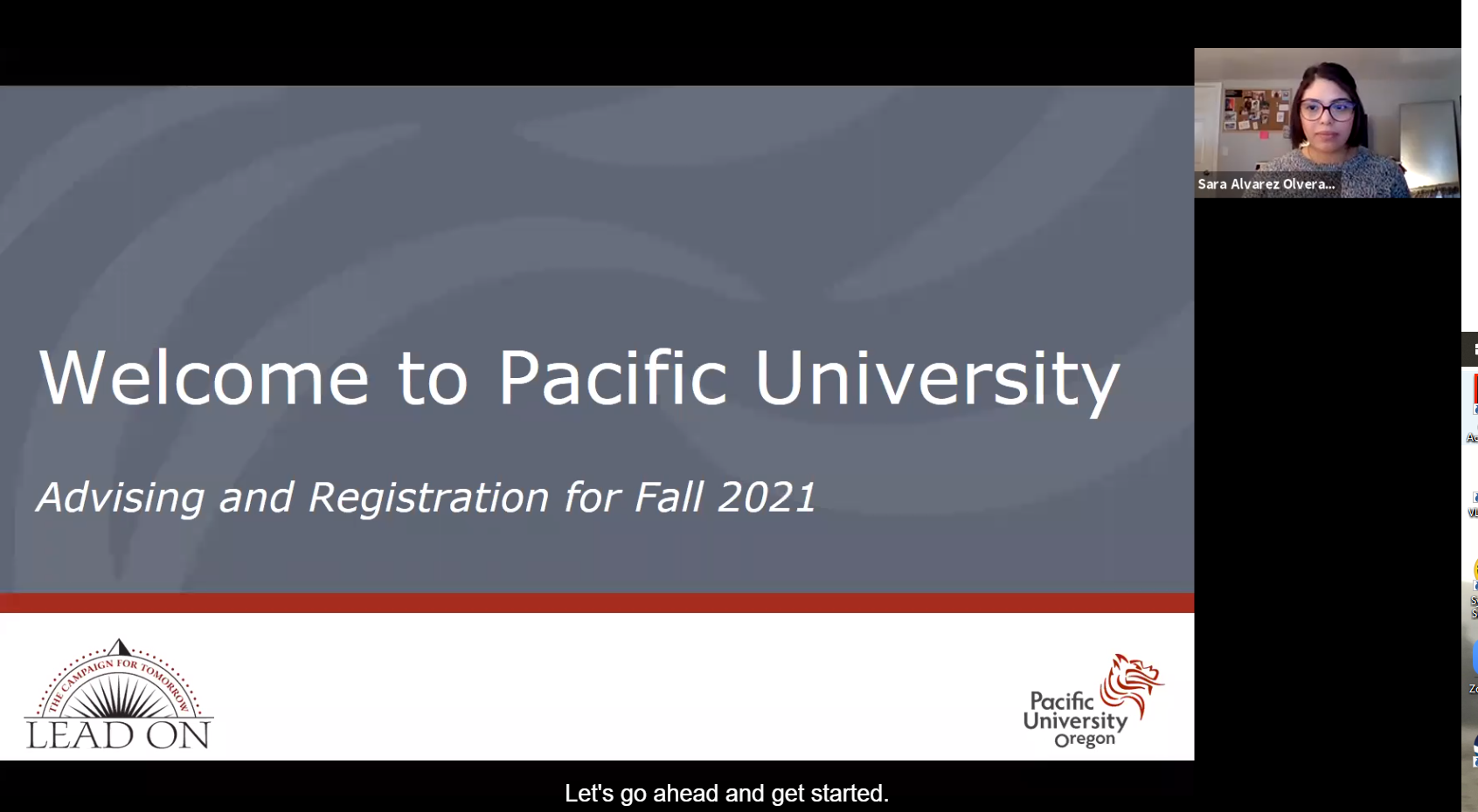 welcome to pacific university advising and registration steps