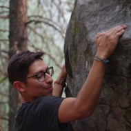 Chris Franco, Outdoor Pursuits Instructor, rock climbing