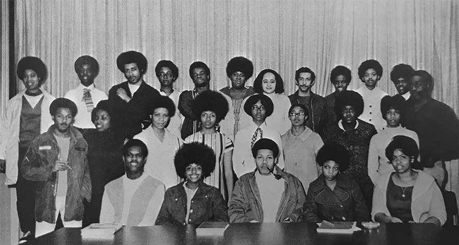 BSU Students Gather for a photo, 1969