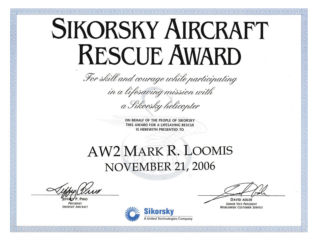 Mark Loomis Rescue Award