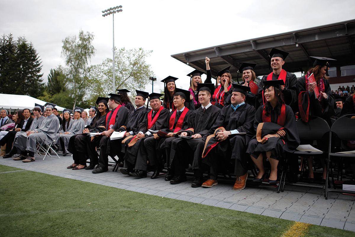 Business Students at Commencement