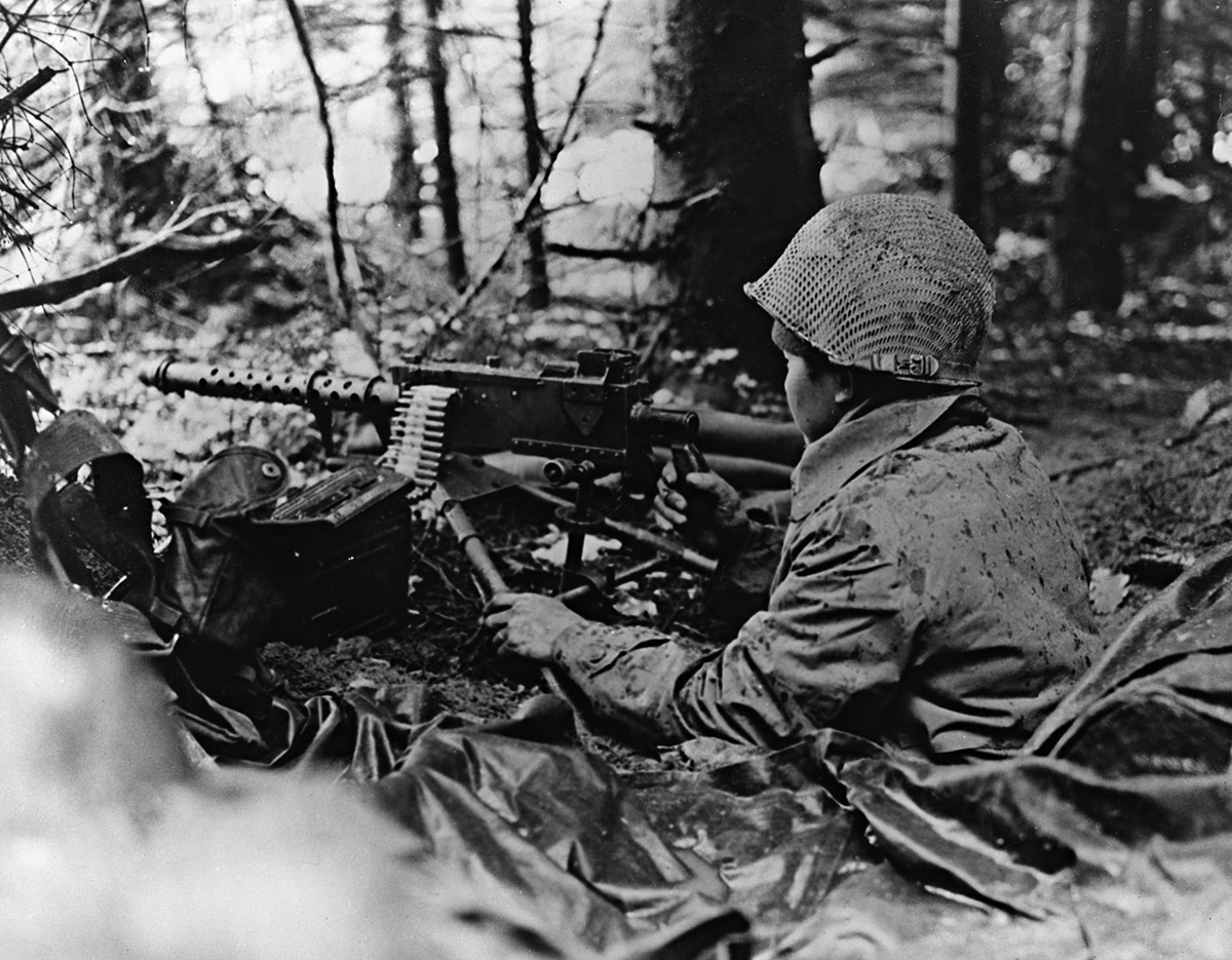 Machine Gunner in the 442nd veterans.