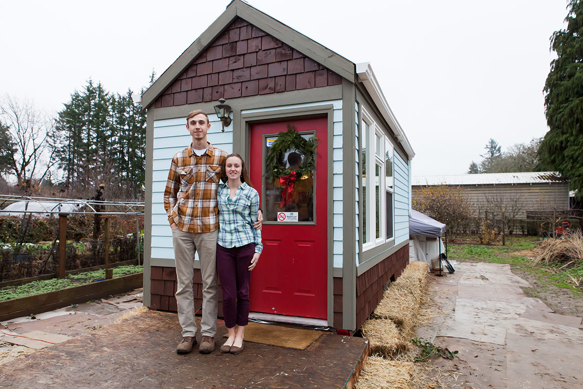 Tiny House with owners