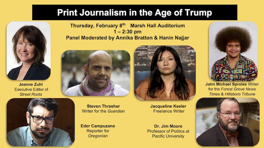 Print Journalism in the Age of Trump - panel discussion