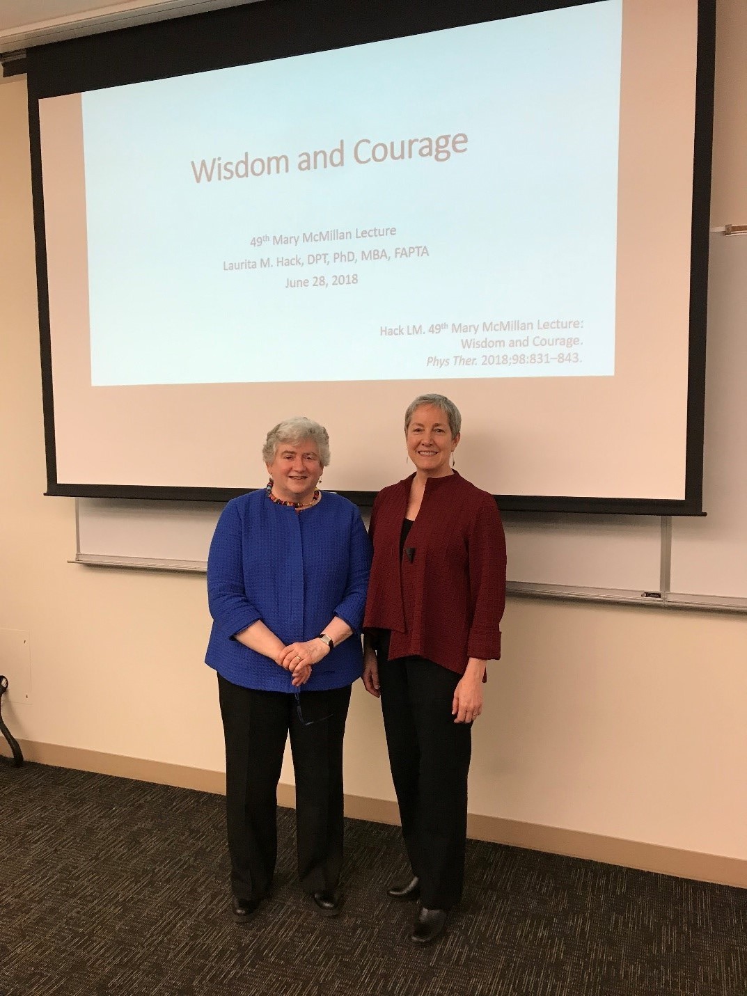 Dr. Laurita Hack and Dr. Ann Barr-Gillespie