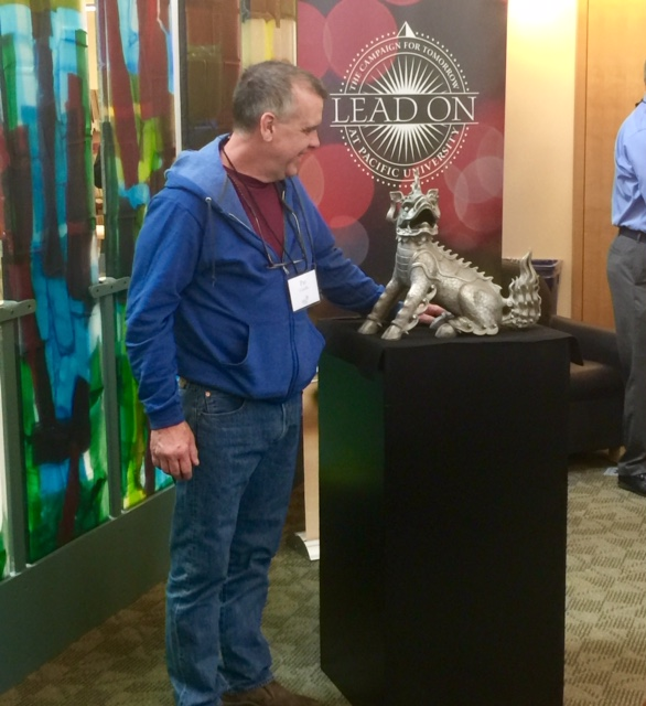 Artist Pat Costello helped unveil Boxer III