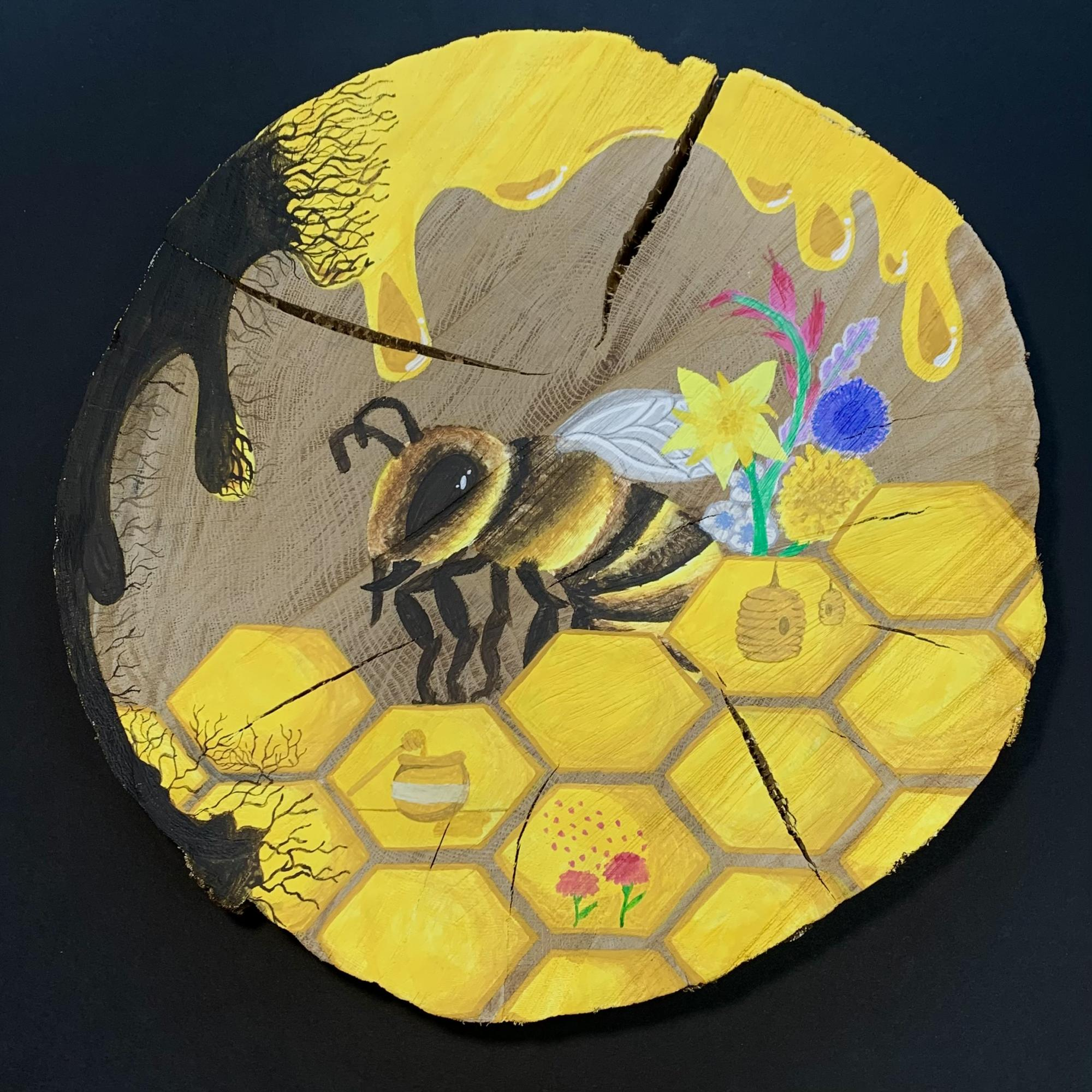 painting of bee