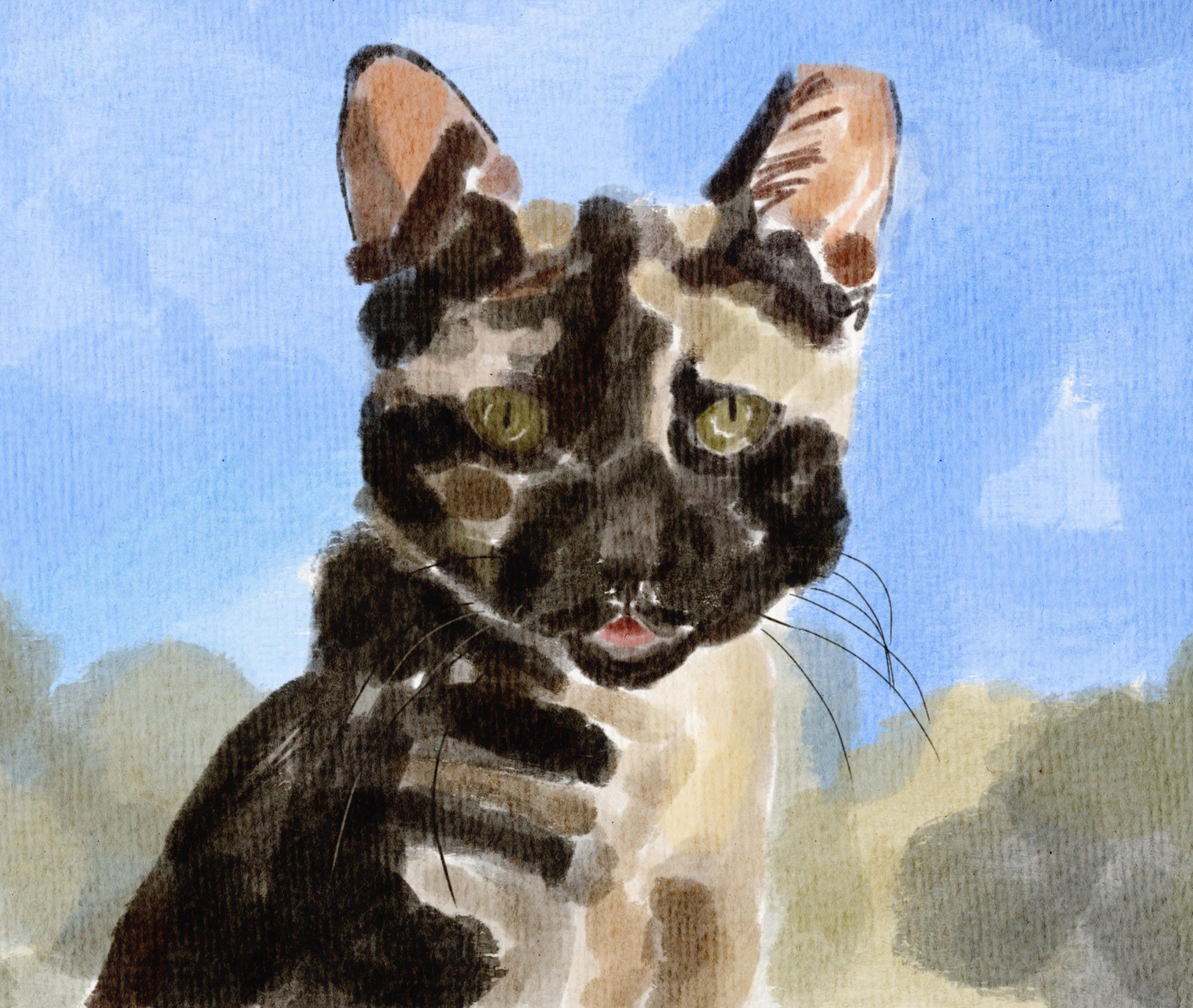 painting of cat