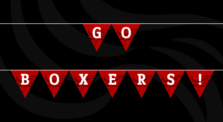 "Printable | ""Go Boxers"" Bunting"