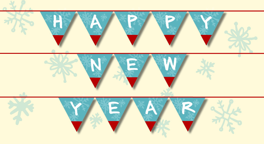Printable Happy New Year Bunting