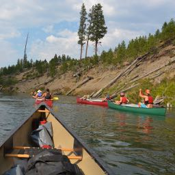 Canoeing on Deschutes River