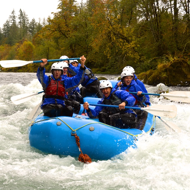 Rafting on the North Santiam River