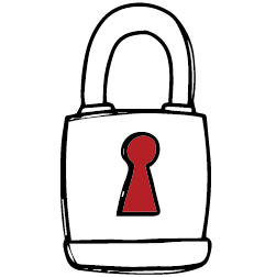 Icon of a padlock