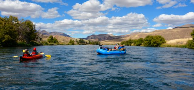 Floating on the Deschutes, OR