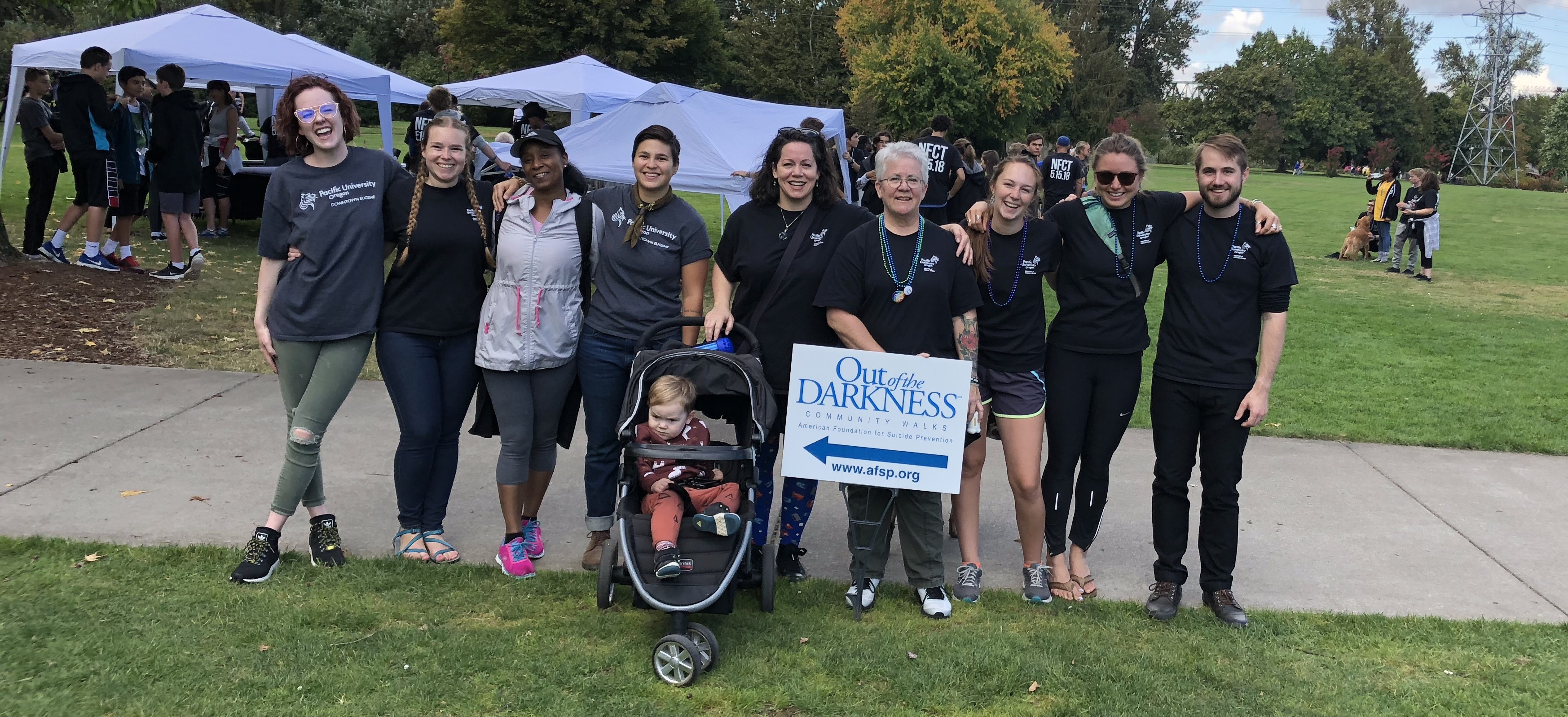 MSW students attending Out of the Darkness Walk