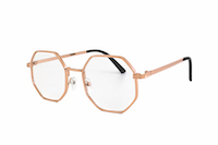 vintage glasses with octagonal wire frames