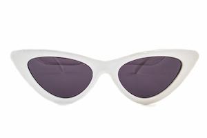 white plastic cat-eye glasses
