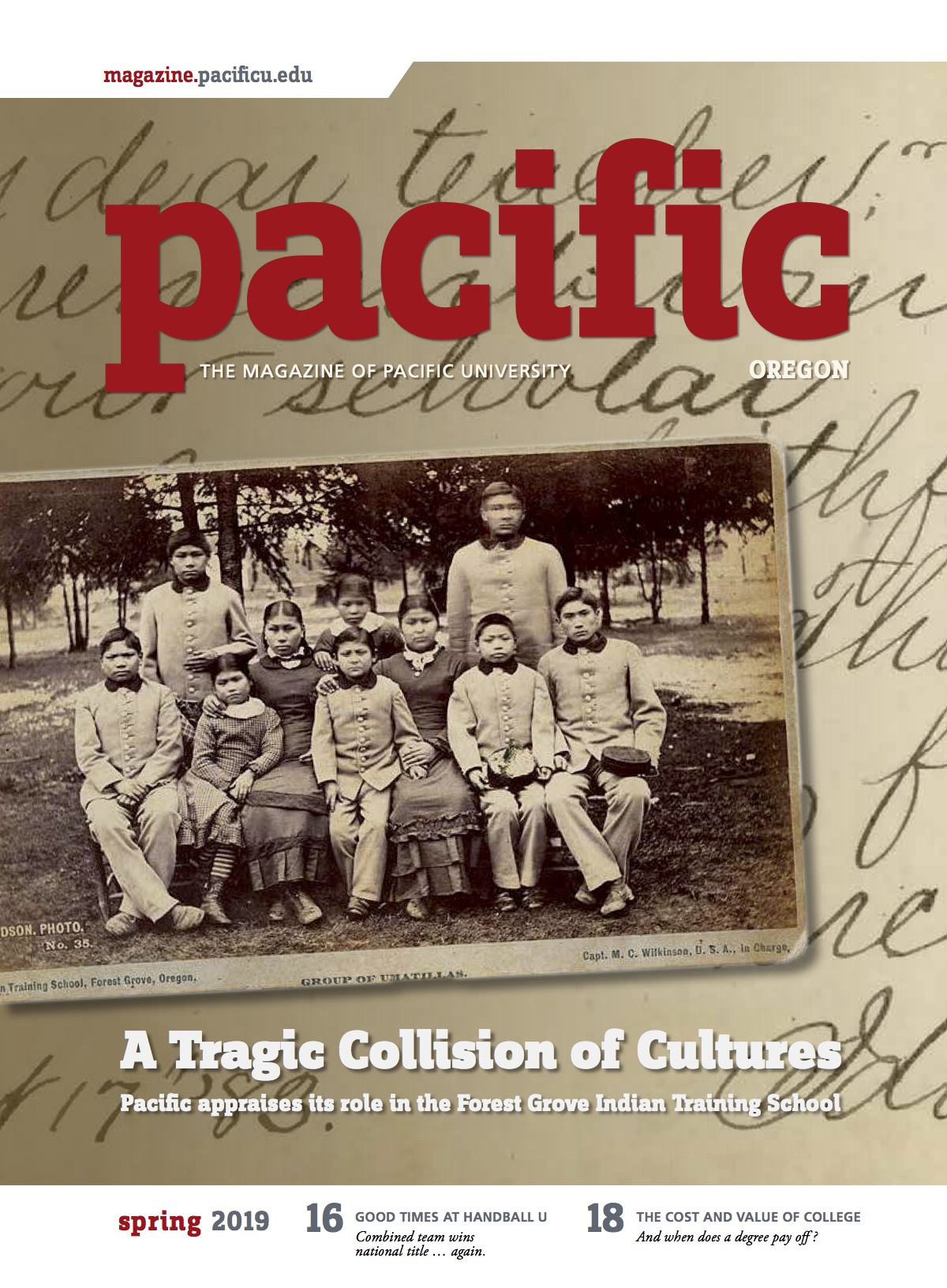 Cover of Spring 2019 Pacific magazine