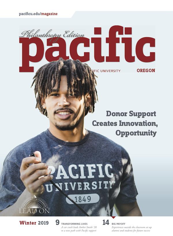 Cover of Winter 2019 Pacific magazine