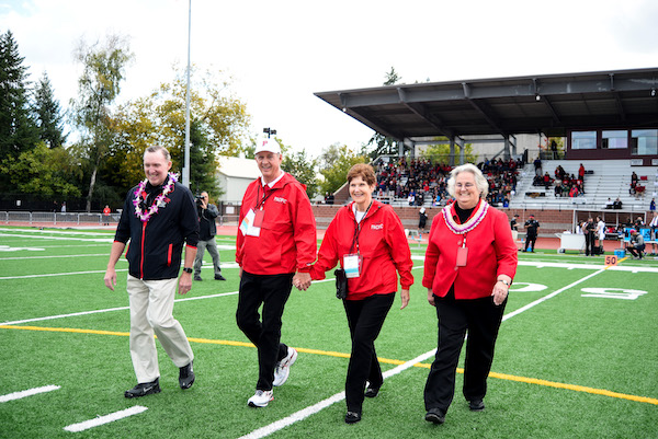 Kim and Barb honored at Ledbetter Field