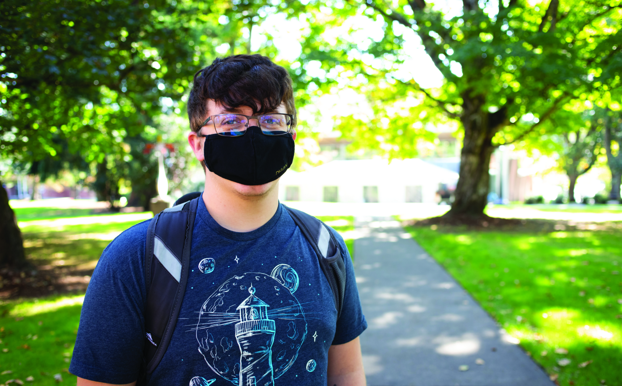 """""""For me, it's hard because it's different. But I need to keep going because if I can't get through the challenge right now ... that would make me nervous about challenges later."""" — Zachary Van Manen '23"""