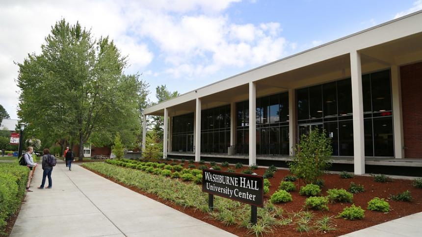 Exterior of Washburne Hall University Center