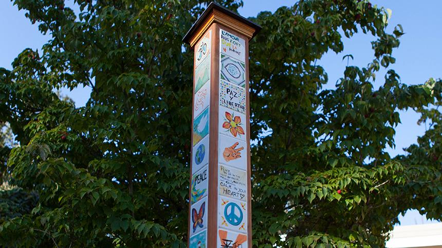 Pacific University Peace Pole