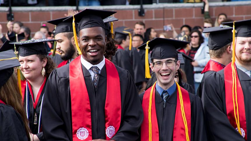 Students at May 2019 Commencement