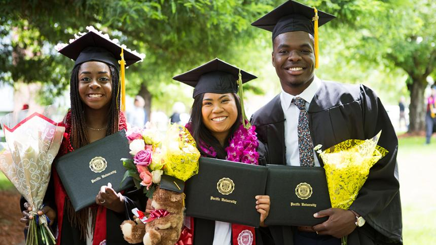 Students at undergraduate commencement in May 2019