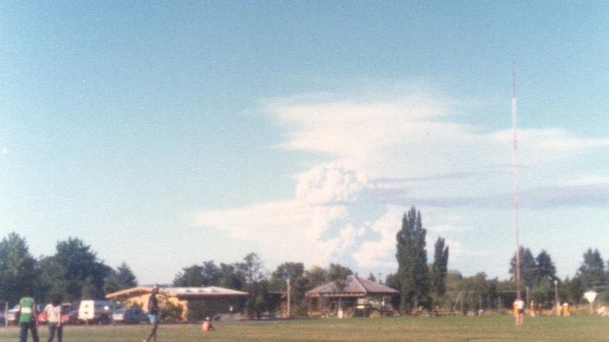 1980 eruption as seen from Pacific University