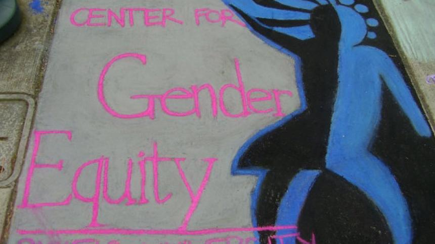 Chalk Art Message of Center for Gender Equity