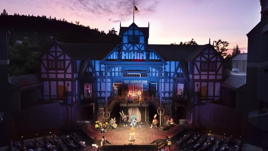 Elizabethan Theatre at Sunset