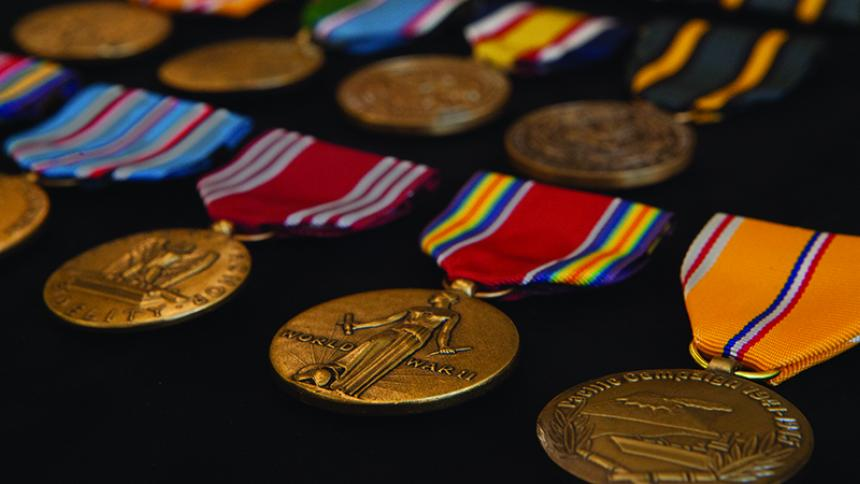 The medals of alumnus S.L Abbott