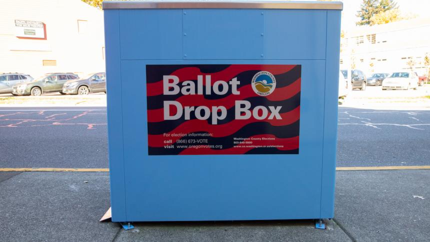 Ballot Box in Forest Grove, Oregon