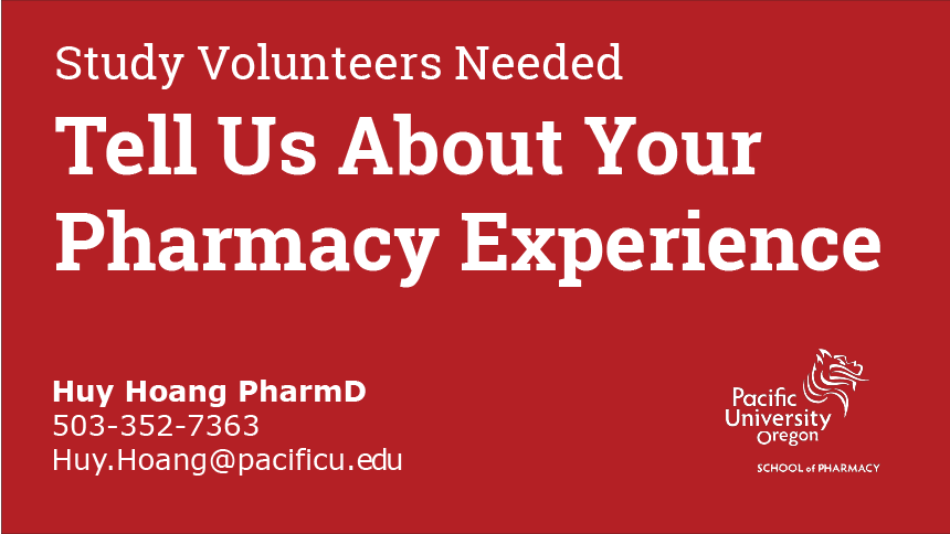 Tell us about your pharmacy experience