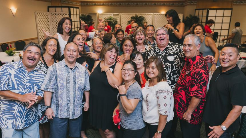 Alumni at a Boxer 'Ohana Reception