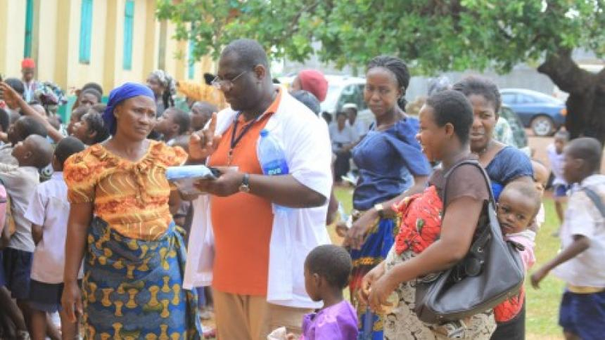 Dr. Agbo on a Raphas Hands trip to west Africa
