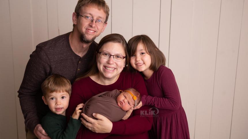 Leah (Penn Boris) Inman and family