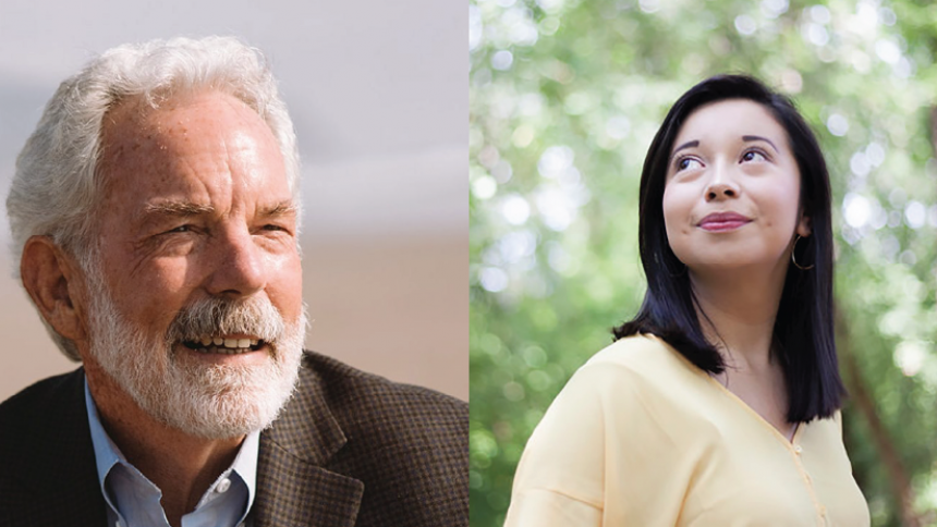 Portraits of Dick Anderson '72 and WInsvey Campos '17