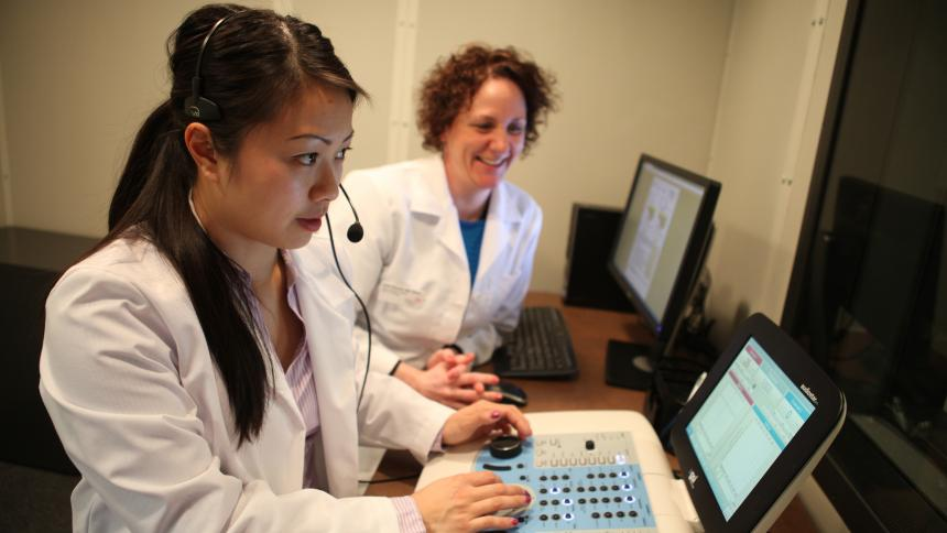 Students pursuing an audiology degree or AuD