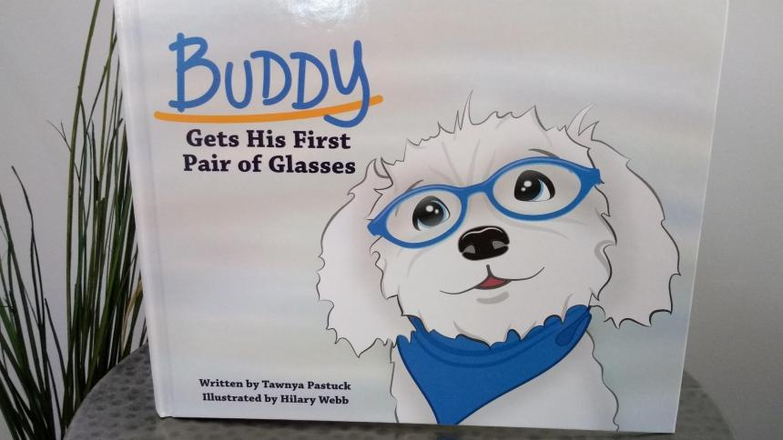 Buddy Gets A New Pair of Glasses Book Cover