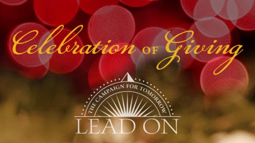 Celebration of Giving header